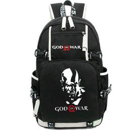 Wholesale Girl Gods - God of War backpack Kratos day pack Norse Mythology design school bag Game style rucksack Sport schoolbag Outdoor daypack