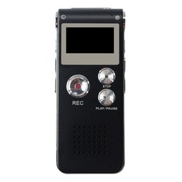 rechargeable mini mp3 Promo Codes - KHP 8GB Mini Digital Voice Recorder Dictaphone MP3 Player Recordin Audio Voice Recorder Professional Rechargeable Pen