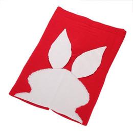 Кролик детское одеяло онлайн-Милый ребенок Одеяло для кровати диван теплое одеяло Пасхальный Кролик уха хвост форма шерсти вязание одеяла дети хороший сон 31rz ii