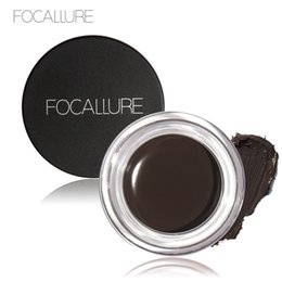 2019 крем-вкладыш для бровей Focallure 5 Colors Eyebrow Pomade Gel Enhancer Waterproof Durable Eyebrow Cream Salon Eye Brow Tint Eye Liner  Maquiagem дешево крем-вкладыш для бровей