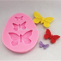 Wholesale Butterfly Cake Decorating Cutter Fondant - Wholesale- High quality 3 Butterfly Cutter Mold Sugarcraft Fondant Cake Decorating DIY Mould Tool
