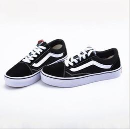 sapatos de lona casais Desconto Europa e nos Estados Unidos vs sapatos de lona sapatos casal preto e branco tiras de alta qualidade sapatos vulcanizados para homens e mulheres