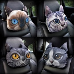 Wholesale Cooling Seat Pads - Activated Carbon Breathe 3D Car Headrest Pillow Cool Dog Face Seat Covers Head Neck Rest Cushion Headrest Pillow Pad