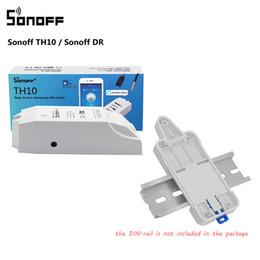 2019 moniteur vidéo wifi Sonoff TH10 Wifi Smart Switch avec moniteur d'humidité de la température / support de caisse pour rail de montage sur rail DIN Sonoff DR réglable promotion moniteur vidéo wifi