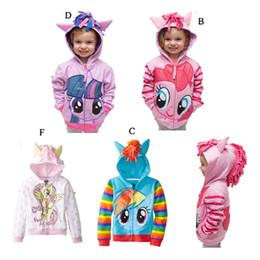 Kleine mädchen, die marken kleiden online-2018 Little Pony Jacken Mädchen Jungen Pullover Nette Marke Kinder Oberbekleidung Kinder Jacken Mantel Hoodies / Pullover Kleidung Baby Kind tragen
