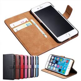 carteira do telefone celular para iphone 5s Desconto Para iphone 8 7 6 5s retro estilo de negócios phone case carteira cartões de telefone celular de couro case pc telefone shell frete grátis