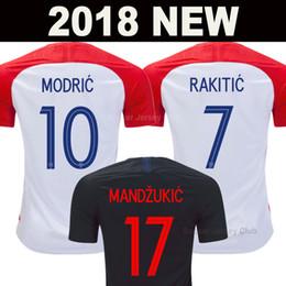 2019 welten gold 2018 Kroatien Fußball Trikot Welt Cup Croatia Hrvatska MODERN MANDZUKIC RAKITIC soccer jersey football shirts PERISIC KALINIK SRNA KOVACIC Nationalmannschaft Fußball Shirt AAA Thai Qualität rabatt welten gold