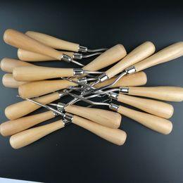 Outils pour faire des perruques en Ligne-1 pc Poignée En Bois Loquet Crochet Crochet Tissage De Cheveux Aiguille Perruques À Tricoter Extensions Styling Outils Tapis Faire Réparation Outils de Bricolage