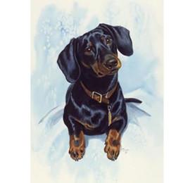 "Wholesale folk dog - Full Drill Square Diamond 5D DIY Diamond Painting""Snow in the dog""Diamond Embroidery Cross Stitch Rhinestone Mosaic Painting"