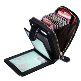 Wholesale Slot Drive - fashion England Style Leather Zipper High Quality women Handbags Pocket Card Handbag Men's Driving Cards Wallets Designer Clutch Wallet