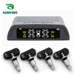 2019 диагностический кабель для opel KUNFINE Solar TPMS Автомобильная система контроля давления в шинах ЖК-дисплей 4 Внутренний / внешний датчик Системы сигнализации Безопасность Автомобильная электроника