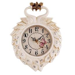 Садовые часы онлайн-Павлин сад смолы настенные часы, простой гостиной настенные часы, мода искусство спальня тихий творческий настенные часы