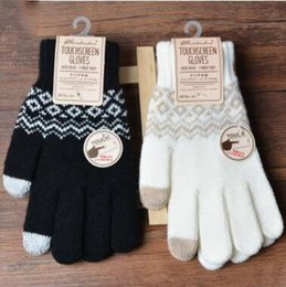 2019 wolle touch handschuhe 4 coors Solide stretch Magic Touch Gloves Männer Warme Winterstrickwolle Handschuhe Volle Fingerhäkelhandschuhe rabatt wolle touch handschuhe