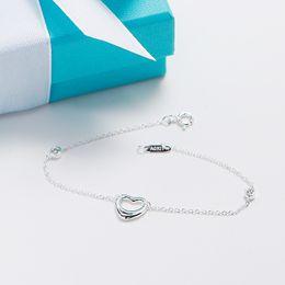 Wholesale Infinity Bracelet Sterling Silver - Hot Sell Infinity Authentic 100% 925 Sterling Silver Elegant T Heart-shaped Bracelet For Women Romantic Gift Charm Bracelet