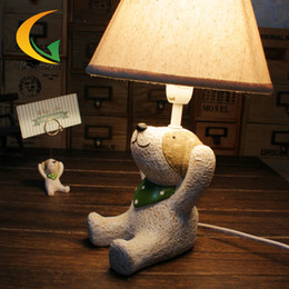 Wholesale Puppy Paintings - Star Catcher small animal three no empty table lamp desk lamp children's room decorative ornaments puppy