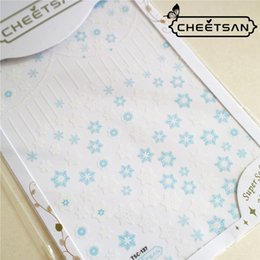 Nail art designs bleu blanc en Ligne-Date TSC-137 blanc bleu flocon de neige 3d nail art sticker autocollant estampage exportation japon conçoit strass décorations