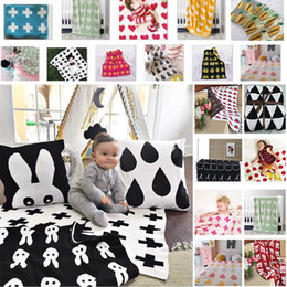 Wholesale Quilt Crochet - Pineapple Knitted Blankets Baby Newborn Cartoon Air Condition Blanket Clouds Sheet Quilts Children Bed Sofa Sheet Blankets Gifts WX9-230
