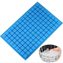 wholesale 126 Cavity Square Ice Cube Tray Silicone Molds Party Cake Decorating Tools Chocolate Candy Jelly Mold Kitchen Baking