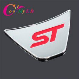 Adesivo a croce cromata online-Color My Life St Steering Wheel Paillettes Adesivi adesivi in ABS cromato per Ford Fiesta Ecosport 2009 - 2017 Accessori auto