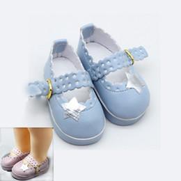 Ropa de muñeca zapatos online-Zapatos lindos de la muñeca Adorable Fiesta Correa del tobillo Zapatos de cuero de la PU para 16 '' Muñecas Accesorios de Ropa Juguetes Para Niñas Niños