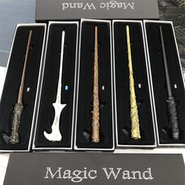 12 zauberstab online-LED Harry Potter Zauberstab leuchten Hermine Voldermort Zauberstäbe Halloween Cosplay Zauberstab Geschenk In Box 12 Design OTH545