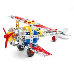 Wholesale Models Build - 3D Assembly Metal Model Kits Toy World War II Plane Building Puzzles 190pcs Accessories Construction Play Set