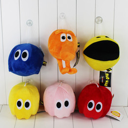 Wholesale Ghost Plush - 5Styles Pixels Plush Toys Doll Q-Bert Pacman Ghost Moive Soft Stuffed Model Cute Cartoon Toys for Children Gift to347