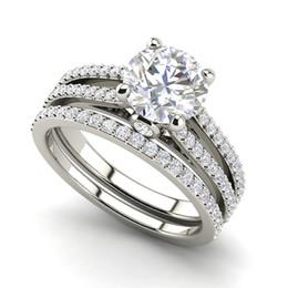 Wholesale Diamond Round Cut - Split Shank 2.25 VVS1 D Round Cut Diamond Engagement Ring White Gold
