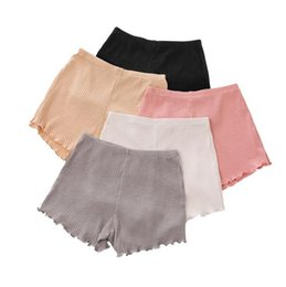 Wholesale tights for summer - girls cotton short leggings summer fashion short leggings ear side safety for girls short tights home clothing I264