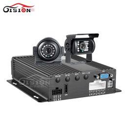 Canada 2 PCS 1.3MP Caméra de vision nocturne étanche + Système de sécurité CCTV 4CH Dual SD Vehcile Mobile Dvr Lecture I / O Alarme Enregistrement en Boucle supplier security recording systems Offre