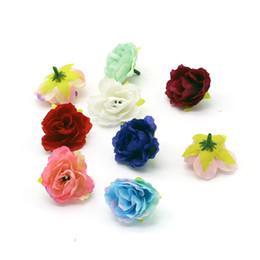 Wholesale Artificial Mini Silk Flowers - Artificial flower mini peony heads wedding home decoration diy wreath ornament clothes flower silk flower heads
