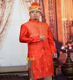 Grande robe à col en Ligne-Inde vêtements traditionnels Stand col mâle à manches longues robe robe robe grande scène rouge Hotel Doorman South Asian caractéristique