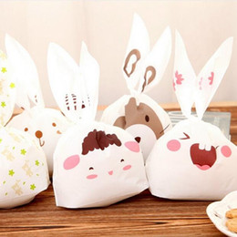 Wholesale Packaging Supplies Food - New Sale rabbit ear cookie bags candy Biscuit Packaging Bag Wedding Candy Gift Bags party Supplies Send Random GA1
