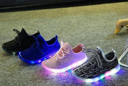 Wholesale Baby Girl Hot Pink Shoes - Hot 2018 Autumn Fashion Children Light Shoes Sport Shoes Baby Boys Girls Led Luminous Kids Sneakers Breathable Shoes