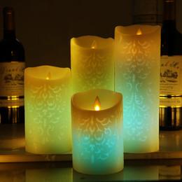 Temporizador eléctrico online-Color sin hilos de las velas del control remoto que cambia la vela llevada con el temporizador perfumado Bougie Velas Electric Home Wedding Decoration