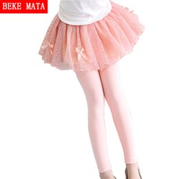 3103af27132 Spring Autumn 2017 New girls leggings Girls Skirt-pants kid pants fashion  Cake skirt girl kids leggings Trousers Leggings Pants
