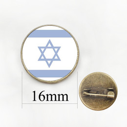 Wholesale Round Clothes Pins - ArmeniaYemenIndia Flag Pattern DIY Pins Brooch IraqIranIsrael Flag Badges Brooches Women Clothing Accessory Jewelry