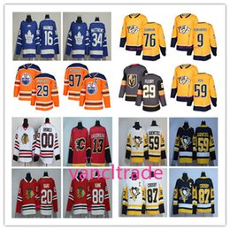 Wholesale Yellow Lavender - 2017-2018 Season popular #00 Clark Griswold 97 Connor McDavid 76 PK Subban 87 Sidney Crosby 34 Auston Matthews 29 Marc-Andre Fleury Jerseys