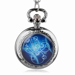 dr chain Promo Codes - 2017 New Arrival Hot UK TV Doctor Who Theme Series Pocket Watch Chain Pendant Watches Dr Who Fans Gift TPM035