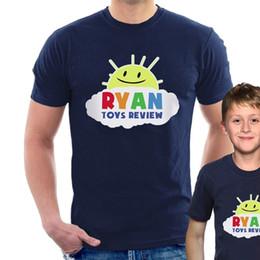jouet pour adulte Promotion RYAN T-SHIRT youtuber jouets rev inspiré Femmes et enfants B49 Print T Shirt Hommes T-Shirt à manches courtes livraison gratuite