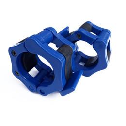 Morsetti di bloccaggio online-Coppia a sgancio rapido di bloccaggio collare bilanciere da 1 pollice e 2 pollici di dimensioni olimpioniche ideale per l'allenamento di sollevamento pesi Pro