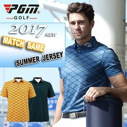 bdd5d159120 New in 2017 PGM Brand Outdoor Sport Quick Dry Short Glof Shirt Men T-shirt  Breathable Coon Golf Short Sleeve Shirts 3 Colors