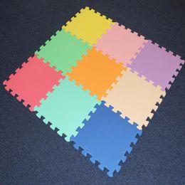 Wholesale Foam Puzzle Mats - Wholesale-9pcs bag Meitoku baby EVA Foam Play Puzzle Mat Mix color Interlocked Exercise Tiles and Carpet Floor Rug for Kid,Each 30X30cm
