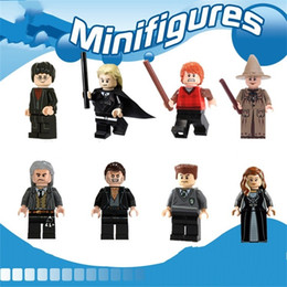 Wholesale dolls harry potter - Blocks Harry Potter Doll Pirate Series Toy Ron Fred Brick Man Mini Building Block Cleaning And Disinfection Children Gift 2 5ecy H1