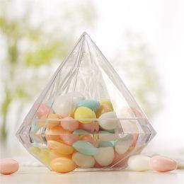 Decorações de casamento de diamantes de plástico on-line-Diamantes transparentes de Plástico Caixa de Embalagem de Presente de Embalagem Originalidade Favores Do Casamento Decoração Embalagem Caixas de Bombons Fontes Do Partido 1 64sq2 bb