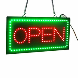 Wholesale Led Neon Board Sign - OPEN Sign,Scrolling LED Neon Business OPEN Sign Advertisement Board Electric Display Sign, Two Modes Flashing & Steady Light for Business