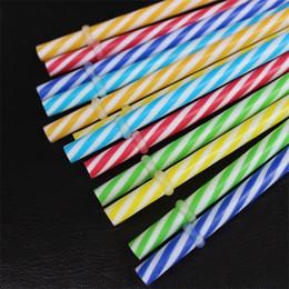 Canudos de arte on-line-PP Beber Palha Crianças Festa de Aniversário Arte de Moda Espiral Tubularis Acessórios de Cozinha Palhas Venda Quente 0 3bc Ww