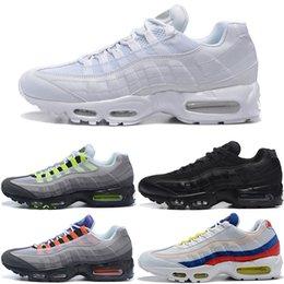 timeless design a1a0a 5e91d 2019 mujeres corriendo zapatos en línea Zapatos para correr Hombres Mujeres  95s SE Triple Negro Blanco