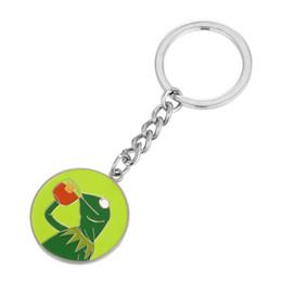 Porte-clés grenouille en Ligne-Kermit Frog: boire du thé qui ne fait pas partie de mes affaires