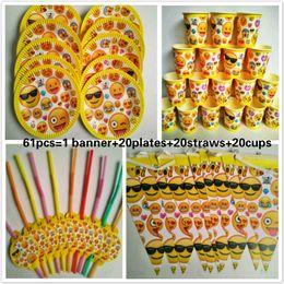 Документы для людей онлайн-20 People kids birthday party emoji funning party decoration sets paper garland plates cups baby shower supplies
